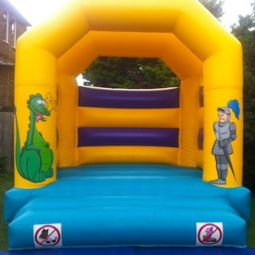 A Frame Knight and Dragon Bouncy Castle